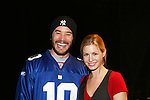 Stephanie Gatschet comes to see Tom Pelphrey act in the Apothecary Theater Company's production of An Evening of Don Nigro on Dec. 14 running until Dec. 20 at Theatre 54, New York City, NY. Tom Pelphrey stars with Kate Russell (was on AMC) in two acts  - 1) Wonders of the Invisible World Revealed and 2) Fair Rosamund and Her Murderer. (Photo by Sue Coflin/Max Photos)