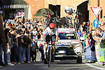 Marco Marcato (ITA) UAE Team Emirates on the San Luca climb during Stage 1 of the 2019 Giro d'Italia, an individual time trial running 8km from Bologna to the Sanctuary of San Luca, Bologna, Italy. 11th May 2019.<br /> Picture: Eoin Clarke | Cyclefile<br /> <br /> All photos usage must carry mandatory copyright credit (© Cyclefile | Eoin Clarke)