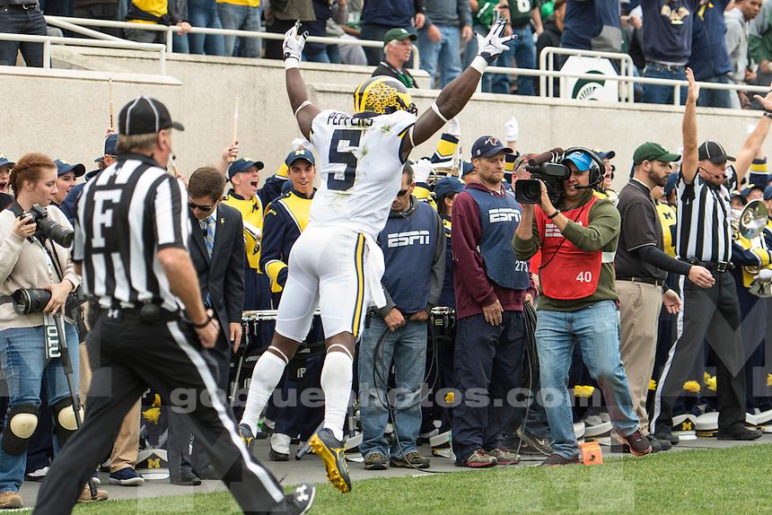 The University of Michigan football team beat Michigan State University, 32-23, at Spartan Stadium in East Lansing on Oct. 29, 2016.