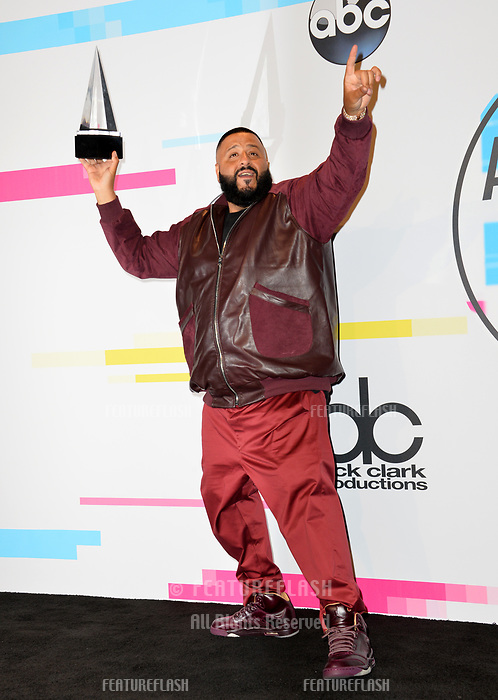 DJ Khaled at the 2017 American Music Awards at the Microsoft Theatre LA Live, Los Angeles, USA 19 Nov. 2017<br /> Picture: Paul Smith/Featureflash/SilverHub 0208 004 5359 sales@silverhubmedia.com