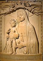 Madonna von András Bárthory 1526 in Nationalgalerie Magyar Nemzeti Galéria im Burgpalast in Buda, Budapest, Ungarn
