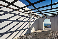 The traditional architecture of Andros, Greece