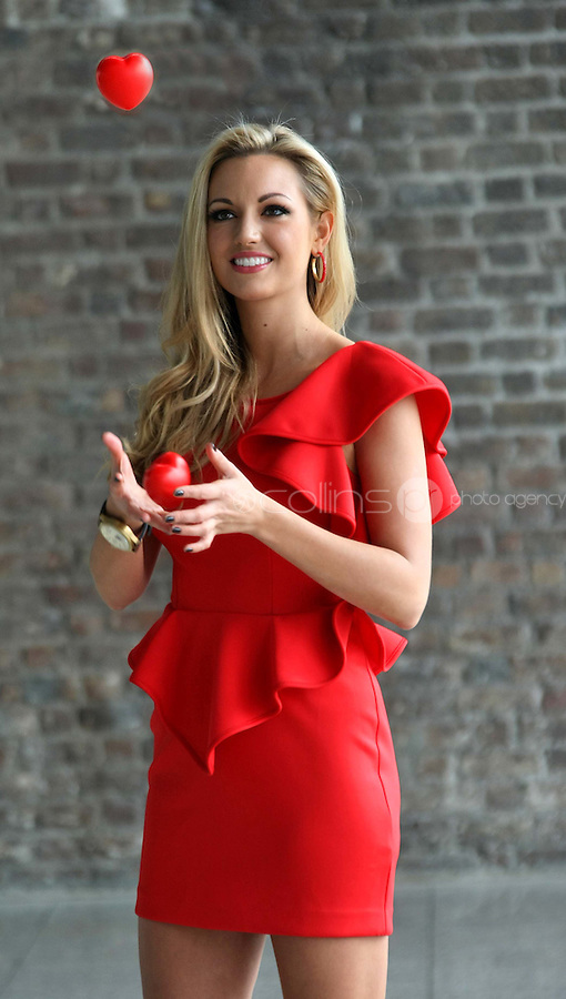 25/08/'10  former Miss World, Rosanna Davison pictured at CHQ this morning at a photocall ' This is not a Red Dress, It's a Red Alert' by the Irish Heart Foundation to publicise the fact that heart disease is not just a man's disease, it's the No.1 killer of Irish women. The national charity fighting herat disease and stroke urges all women to take action now to reduce their risk and know the symptoms of heart attack and stroke...Picture Colin Keegan, Collins, Dublin.