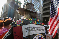 NEW YORK,NY October 29,2016. A Donald Trump Supporter during  a rally for Donald Trump outside of Trump Tower in Manhattan, October 29,2016. Photo by VIEWpress/Maite H. Mateo