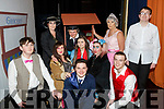Cast members of the Cinderella panto in the Ballyheigue Community Centre on Friday night.<br /> Kneeling l-r, Luke McCrohan (Dandeni), Jimmy Heir (Prince Charming), Brendan Dunne (Buttons), Gillanne O&rsquo;Grady (Mona Hardup), Emer Galvin (Cinderella), Samantha Drury (The Ugly Sister), Ann Drury O&rsquo;Leary (Baroness), Graham Butcher (Baron), Mary Fortune (Fairy Godmother) and Adam O&rsquo;Leary (The Chamberlain).