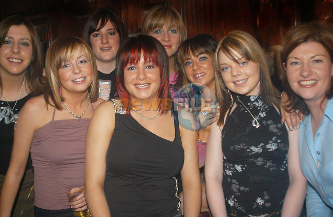 Marta Gorman out celebrating her 21st with friends in The Star and Crescent..Picture Tony campbell ...