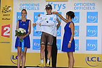 Pierre Roger Latour (FRA) AG2R La Mondiale retains the young riders White Jersey at the end of Stage 3 of the 104th edition of the Tour de France 2017, running 212.5km from Verviers, Belgium to Longwy, France. 3rd July 2017.<br /> Picture: Eoin Clarke | Cyclefile<br /> <br /> All photos usage must carry mandatory copyright credit (&copy; Cyclefile | Eoin Clarke)