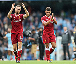 Liverpool's Alex Oxlade-Chamberlain and Jordan Henderson look on dejected at the final whistle during the premier league match at the Etihad Stadium, Manchester. Picture date 9th September 2017. Picture credit should read: David Klein/Sportimage