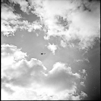 Helicopter rides above Niagara Falls. Ricoflex TLR. 2014