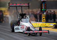 May 31, 2019; Joliet, IL, USA; NHRA top fuel driver Steve Torrence during qualifying for the Route 66 Nationals at Route 66 Raceway. Mandatory Credit: Mark J. Rebilas-USA TODAY Sports