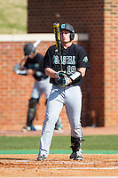Kyle Jackson (19) of the Coastal Carolina Chanticleers steps up to the plate during the game against the High Point Panthers at Willard Stadium on March 15, 2014 in High Point, North Carolina.  The Chanticleers defeated the Panthers 1-0 in the first game of a double-header.  (Brian Westerholt/Four Seam Images)