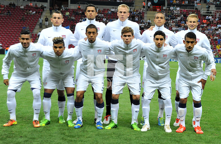USA U20's players during their FIFA U-20 World Cup Turkey 2013 Group Stage Group A soccer match USA U20 betwen Spain at the Kadir Has stadium in Kayseri on June 21, 2013. Photo by Aykut Akici/isiphotos.com