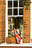 Kingston upon Thames. Patriotic window.
