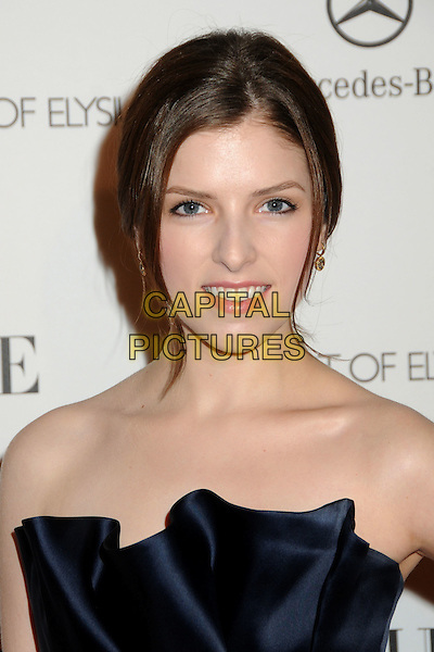 """ANNA KENDRICK .attends the Art of Elysium 4th Annual Charity Gala """"Heaven"""" held at The Annenberg Building at The California Science Center in Los Angeles, California, USA, January 15th 2011..portrait headshot strapless navy blue silk satin .CAP/ADM/BP.©Byron Purvis/AdMedia/Capital Pictures."""