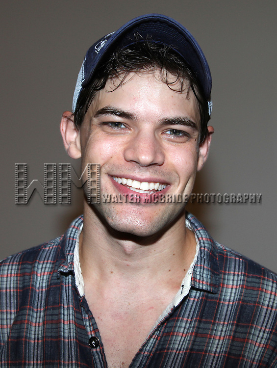 Jeremy Jordan.and the cast of 'Newsies', attend an In Studio Press Preview at the New 42nd Street 'Duke' Studios in New York City.
