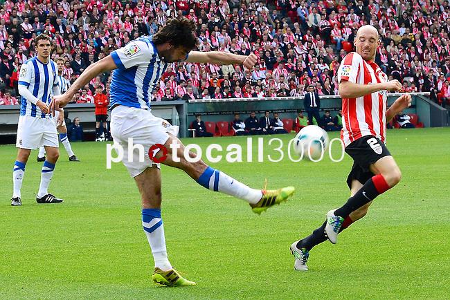 Football macht during La Liga BBVA.<br /> Athletic Club - Real Sociedad<br /> tokero
