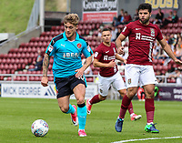 Fleetwood Town's Conor McAleny shoots at goal <br /> <br /> Photographer Andrew Kearns/CameraSport<br /> <br /> The EFL Sky Bet League One - Northampton Town v Fleetwood Town - Saturday August 12th 2017 - Sixfields Stadium - Northampton<br /> <br /> World Copyright &copy; 2017 CameraSport. All rights reserved. 43 Linden Ave. Countesthorpe. Leicester. England. LE8 5PG - Tel: +44 (0) 116 277 4147 - admin@camerasport.com - www.camerasport.com