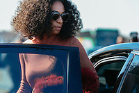 Solange Knowles at Paris Fashion Week (Photo by Hunter Abrams/Guest of a Guest)