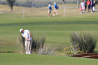 Matthew Southgate (ENG) plays his drop shot on the 14th hole during Thursday's Round 1 of the 2016 Portugal Masters held at the Oceanico Victoria Golf Course, Vilamoura, Algarve, Portugal. 19th October 2016.<br /> Picture: Eoin Clarke   Golffile<br /> <br /> <br /> All photos usage must carry mandatory copyright credit (© Golffile   Eoin Clarke)