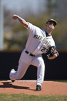 Starting pitcher Michael Dimock #23 of the Wake Forest Demon Deacons in action versus the Virginia Cavaliers at Wake Forest Baseball Park March 8, 2009 in Winston-Salem, NC. (Photo by Brian Westerholt / Four Seam Images)