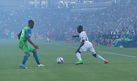 Carson, CA - Saturday July 29, 2017: Emmanuel Boateng during a Major League Soccer (MLS) game between the Los Angeles Galaxy and the Seattle Sounders FC at StubHub Center.
