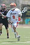 Orange, CA 05/02/10 - Adam Levoy (CS Fullerton # 9) in action during the Biola-Cal State Fullerton MCLA SLC Division II final game in Wilson Field at Chapman University.  CS Fullerton earned a consecutive appearance at the Nationals by defeating Biola 12-7.