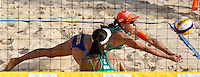 Brazil's Taiana Lima and Talita Antunes, center, in action at the Beach Volleyball World Tour Grand Slam, Foro Italico, Rome, 21 June 2013.<br /> UPDATE IMAGES PRESS/Isabella Bonotto
