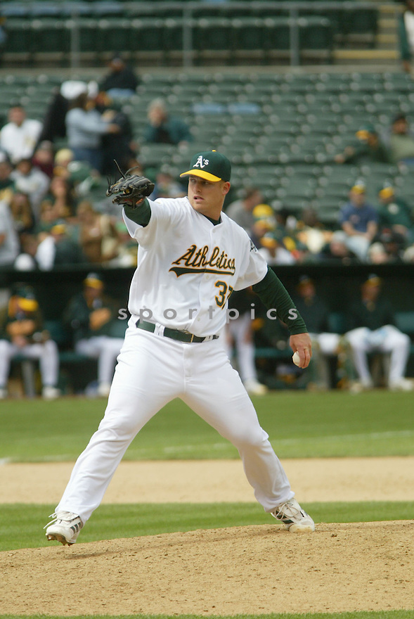 Joe Kennedy, of the Oakland A's, during their game against the Texas Rangers.in Oakland on April 16, 2006..Rangers win 5-3..Rob Holt / SportPics