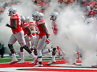 Ohio State Buckeyes take to the field before taking on Rutgers at Ohio Stadium October 1, 2016.(Dispatch photo by Eric Albrecht)