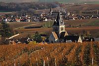 Europe/France/Champagne-Ardenne/51/Marne/Ville-Dommange: Le village et le vignoble champenois