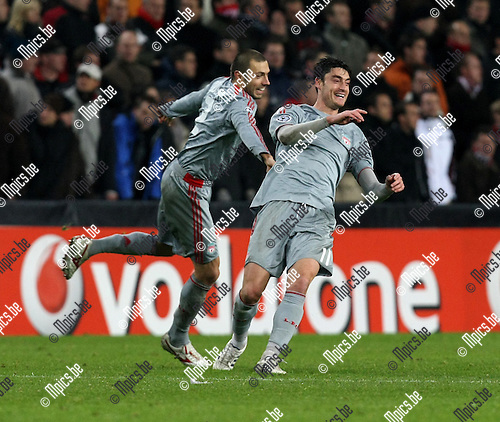 2008-12-08 / UEFA Champions league / PSV - FC Liverpool / Albert Riera scored 1-2 for Liverpool..Picture by Maarten Straetemans (SMB)