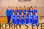 Tralee Imperials U18 Girls front Danielle Pierse,  Niamh Myers,  Danika O'Grady, Courtney Ryan, Sandra Lynch  Doireann Tarrant, back Jimmy Diggins (coach)  Caitriona Collins,  Cliona Coffey,  Clodagh Quinlan,  Jenny Fitz,  Maeve Carmody, Orla Sheehy,  Saidbh Fitz in the Girls in the under 18 national Cup in Mounthawk on Saturday