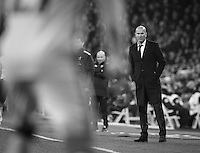 Real Madrid's French coach Zinedine Zidane during the Copa del Rey soccer match between Real Madrid and Sevilla played at the Santiago Bernabéu stadium in Madrid, on January 4th 2017.