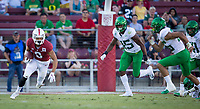 Stanford, CA - September 21, 2019: Osiris St. Brown at Stanford Stadium. The Stanford Cardinal fell to the Oregon Ducks 21-6.