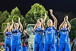 5Solna 2015-08-31 Fotboll Damallsvenskan AIK - Eskilstuna United :  <br /> Eskilstunas Olivia Schough med lagkamrater firar 3-0 segern framf&ouml;r Eskilstunas supportrar efter matchen mellan AIK och Eskilstuna United <br /> (Foto: Kenta J&ouml;nsson) Nyckelord:  Damallsvenskan Allsvenskan Dam Damer Damfotboll Skytteholm Skytteholms IP AIK Gnaget Eskilstuna United jubel gl&auml;dje lycka glad happy