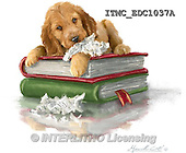 Marcello, REALISTIC ANIMALS, REALISTISCHE TIERE, ANIMALES REALISTICOS, paintings+++++,ITMCEDC1037A,#A# ,dogs,puppies