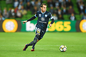 3rd November 2017, Melbourne Rectangular Stadium, Melbourne, Australia; A-League football, Melbourne City FC versus Sydney FC; Luke Wilkshire of Sydney FC kicks the ball