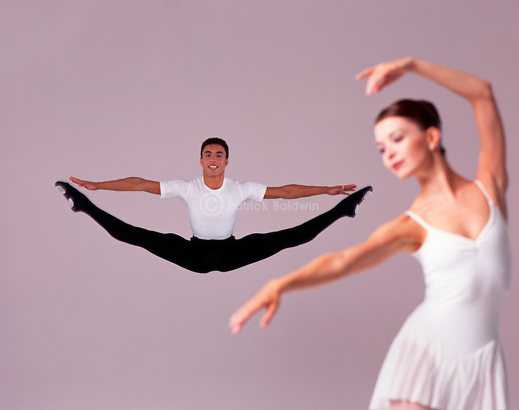 ENB dancers Jean Luc Burke and Lisa Probert.