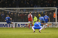 Tom Eaves of Gillingham scores the winning goal from the penalty spot to make the score 2-1 during the Sky Bet League 1 match between Gillingham and Fleetwood Town at the MEMS Priestfield Stadium, Gillingham, England on 27 January 2018. Photo by David Horn.