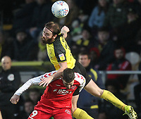 Fleetwood Town's Ched Evans in action with Burton Albion's John Brayford<br /> <br /> Photographer Mick Walker/CameraSport<br /> <br /> The EFL Sky Bet League One - Burton Albion v Fleetwood Town - Saturday 11th January 2020 - Pirelli Stadium - Burton upon Trent<br /> <br /> World Copyright © 2020 CameraSport. All rights reserved. 43 Linden Ave. Countesthorpe. Leicester. England. LE8 5PG - Tel: +44 (0) 116 277 4147 - admin@camerasport.com - www.camerasport.com