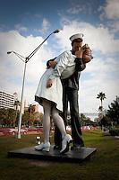Unconditional Love statue makes way back to Marina Jack, Sarasota, Florida. Photo by Debi Pittman Wilkey