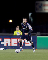 New England Revolution defender Ryan Cochrane (45). In a Major League Soccer (MLS) match, Real Salt Lake defeated the New England Revolution, 2-0, at Gillette Stadium on April 9, 2011.