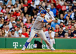 22 June 2019: Toronto Blue Jays outfielder Billy McKinney pinch hits in the 8th inning against the Boston Red Sox at Fenway :Park in Boston, MA. The Blue Jays rallied to defeat the Red Sox 8-7 in the 2nd game of their 3-game series. Mandatory Credit: Ed Wolfstein Photo *** RAW (NEF) Image File Available ***