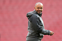 Arsenal Under 18 Coach, Kwame Ampadu, ahead of kick-off during Arsenal Youth vs Blackpool Youth, FA Youth Cup Football at the Emirates Stadium on 16th April 2018
