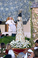 Statue Lady of Loreto;Pope Benedict XVI celebrates a mass during a youth meeting in Loreto, central Italy, September 2, 2007.