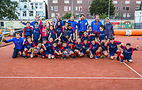 The Hague, The Netherlands, September 13, 2017,  Sportcampus , Davis Cup Netherlands - Chech Republic, Streettennis with Davis Cup Team<br /> Photo: Tennisimages/Henk Koster