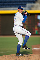 Durham Bulls starting pitcher Blake Snell (37) warms up in the bullpen prior to the game against the Indianapolis Indians at Durham Bulls Athletic Park on August 4, 2015 in Durham, North Carolina.  The Indians defeated the Bulls 5-1.  (Brian Westerholt/Four Seam Images)