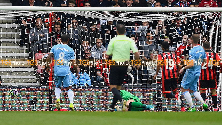 Junior Stanislas of AFC Bournemouth (19) scores to make the score 1-1 during AFC Bournemouth vs Stoke City, Premier League Football at the Vitality Stadium on 6th May 2017