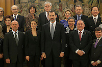 Spanish Royals King Felipe VI of Spain and Queen Letizia of Spain during a Royal Audience at Zarzuela Palace in Madrid, Spain. January 29, 2015. (ALTERPHOTOS/Victor Blanco) /nortephoto.com<br /> nortephoto.com