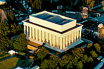 Aerial and ground views of washington dc monuments